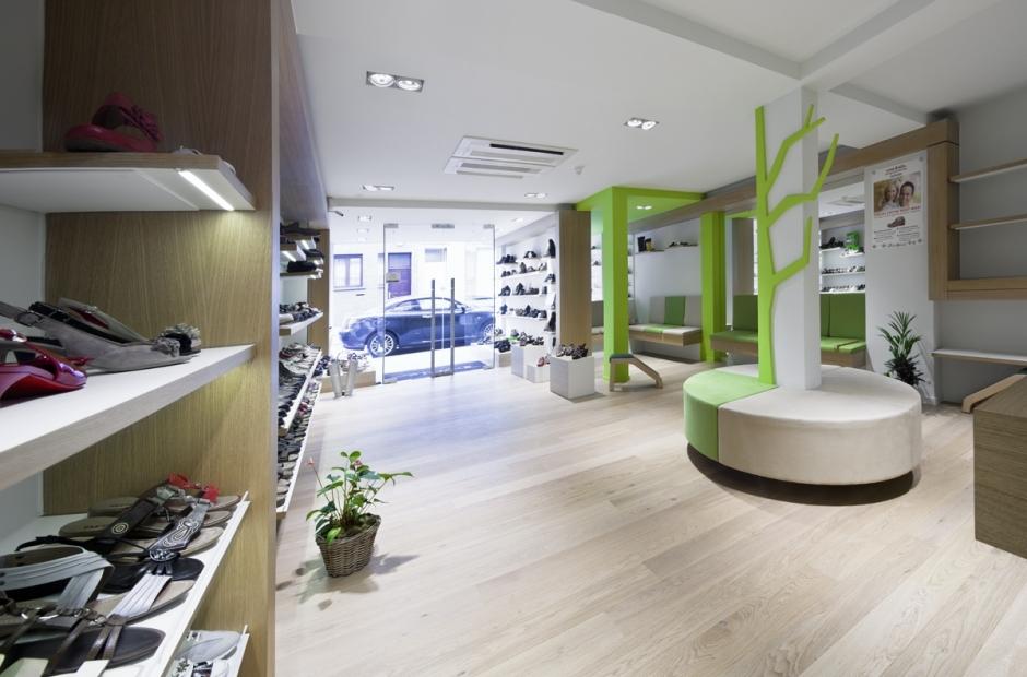 Brussel interieurontwerp schoenwinkel projecten tube for Interieur winkel gent