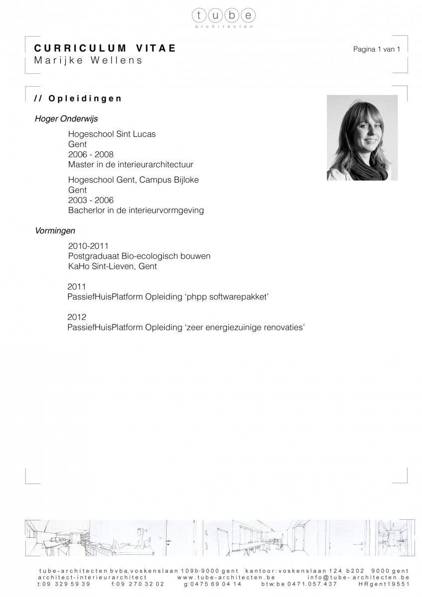 Architect resume for Architecte paysagiste